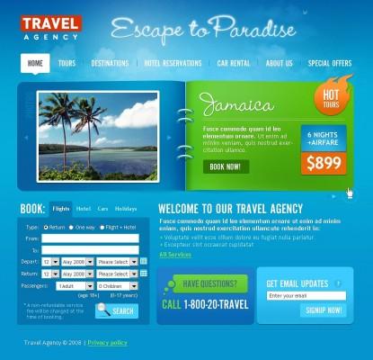 Mô hình website du lịch