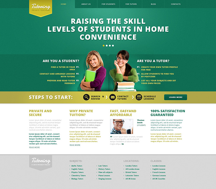 Xây dựng website cho các tổ chức giáo dục