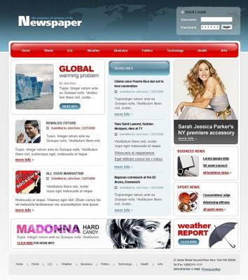 Mô hình website Tin tức