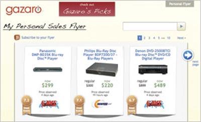 Gazaro, trang web tìm kiếm tập trung vào những món hàng có giá hấp dẫn, đánh giá mặt hàng đó theo thang điểm từ 1 đến 10