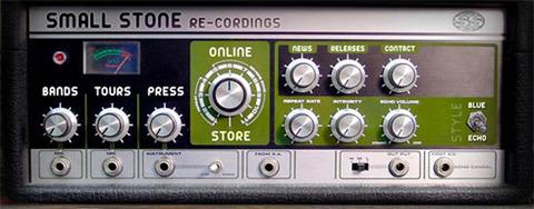Small Stone Recordings lại có nút truy cập các mục được thiết kế như nút điều chỉnh âm thanh.