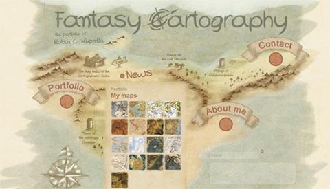 Fantasy Cartography tạo danh mục như một tấm bản đồ