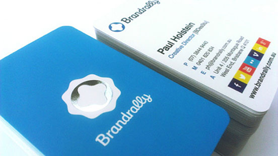 Brandrally – đơn giản nhưng đầy đủ, đó là những gì danh thiếp của brandrally.com.au (một trang web chuyên về thiết kế đồ họa) muốn thể hiện.