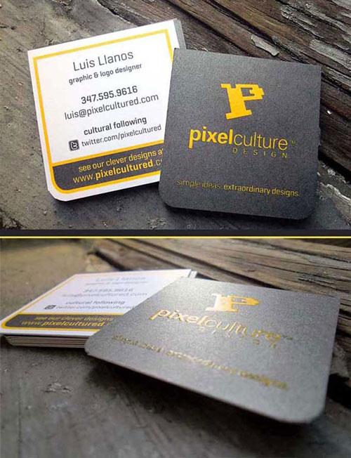 Luis Llanos – danh thiếp của pixelcultured.com, trang web chuyên thiết kế logo cho các doanh nghiệp.