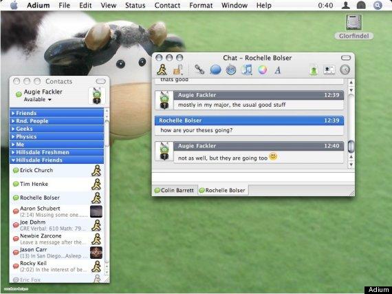 Ứng dụng chat Adium