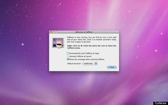 """Caffeine giữ máy Mac luôn trong tình trạng """"làm việc"""""""