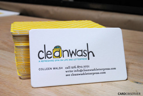 Cleanwash – danh thiếp của trang web cleanwashletterpress.com. Đây là website chính thức của một công ty in do Collen Walsh, một nữ doanh nhân xinh đẹp thành lập.