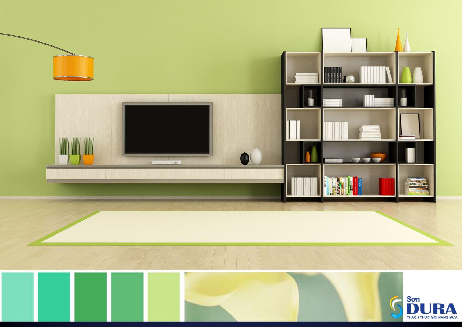 Màu mát được tạo ra như: vàng xanh, xanh lá cây, lục lam. Màu mát như màu xanh ngọc và màu xanh cây cối luôn có trong tự nhiên