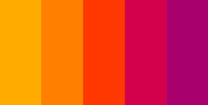 Màu nóng tự nó phản chiếu và lôi cuốn sự chú ý