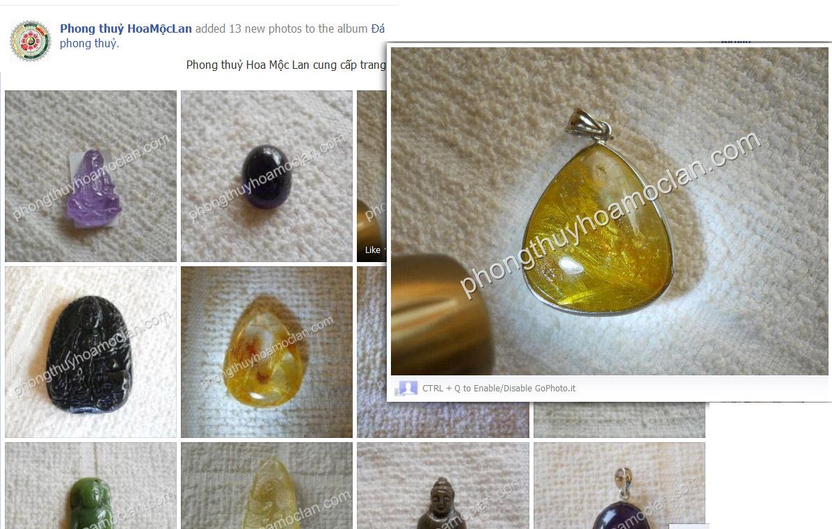 Fanpage Cửa hàng Phong Thủy Hoa Mộc Lan trên FB Thông tin sản phẩm có thể là tên sản phẩm, tính năng, đặc điểm nổi trội của sản phẩm