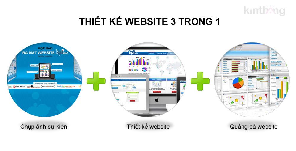 Thiết kế website 3 trong 1
