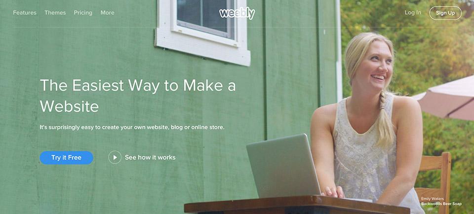 """Weebly là một dịch vụ web-hosting cho phép mọi người sử dụng chức năng """"kéo-thả"""" để xây dựng trang web của họ."""
