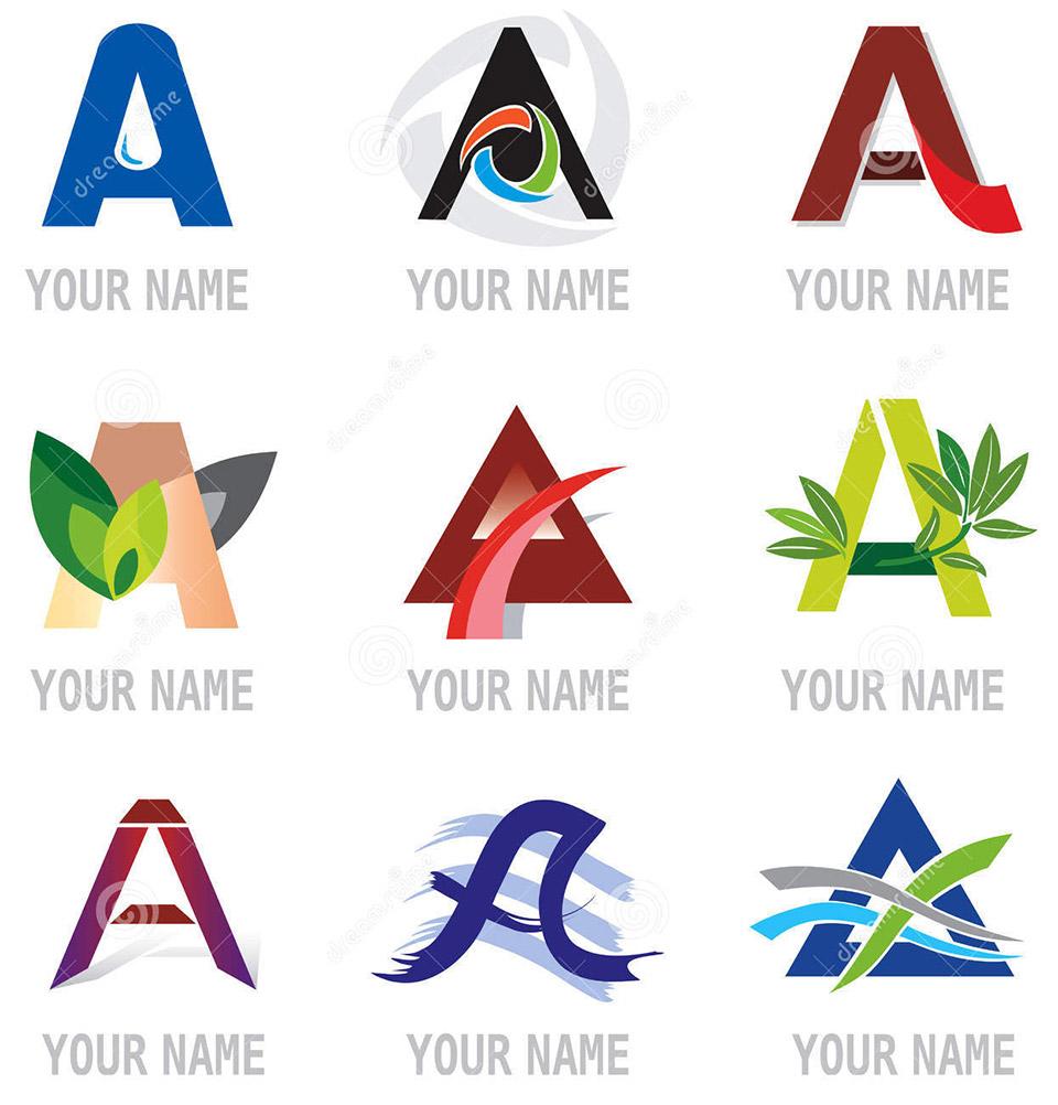 Thiết kê logo với chữ A được cách điệu