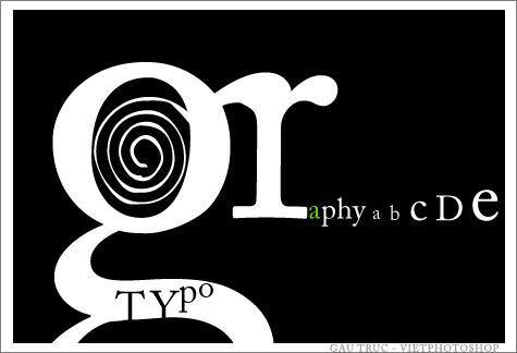 Typography không gò bó trong hình thức thể hiện, đó là sự sáng tạo bằng các con chữ