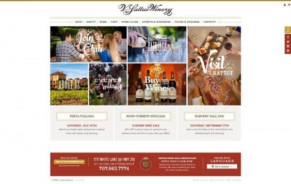 Giao diện website rượu vàng trên desktop