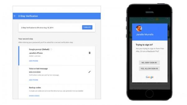 Google xác thực 2 bước với cảm ứng vân tay