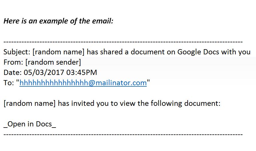 Địa chỉ email chứa virus bắt đầu bằng dãy chữ h