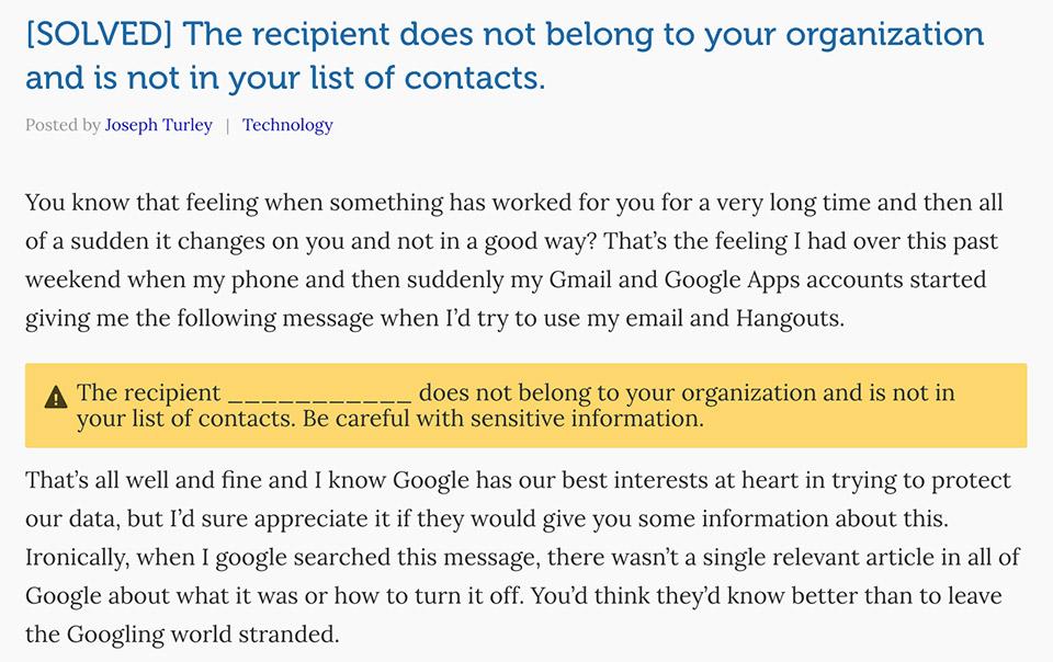 Người dùng này cảm thấy thật phiền toái khi luôn nhận được cảnh báo mỗi khi sử dụng email và Hangouts